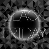 Okiełznany elegancja sztandar dla sprzedaży na Black Friday Wektorowy sztandar dla sklepów, sieć ilustracji