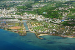 Okinawa aerial photo Royalty Free Stock Photography