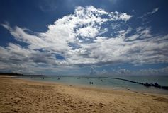 Okinawa beach in the summer. stock image