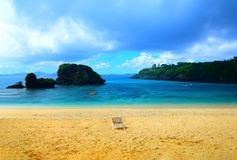 Okinawa beach in the summer. stock photography