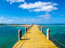 Okinawa Beach. Okinawa Sun Marina Hotel stock photography