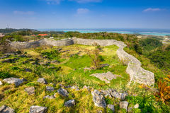 Okinawa Castle Ruins. Okinawa, Japan at Nakagusuku Catle ruins Royalty Free Stock Image