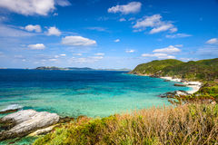 Okinawa Coast. Tokashiki, Okinawa, Japan coastal view at Aharen Beach Stock Photos
