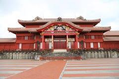 OKINAWA - 8 DE OCTUBRE: Castillo de Shuri en Okinawa, Japón el 8 de octubre de 2016 fotografía de archivo libre de regalías