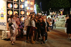 OKINAWA - 8 DE OCTUBRE: Festival del ciudadano de RBC en el parque de Onoyama, Okinawa, Japón el 8 de octubre de 2016 imagen de archivo