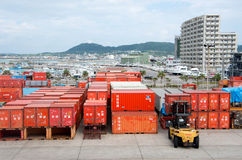 Okinawa dock of japan Royalty Free Stock Photo