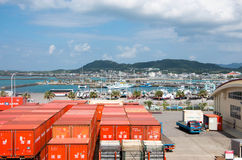 Okinawa dock of japan Royalty Free Stock Photography
