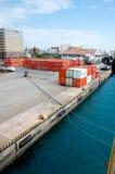 Okinawa-Dock von Japan Stockfotografie