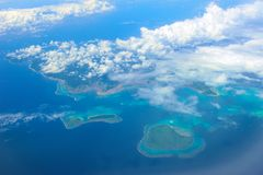 Okinawa Islands. Aerial view of Okinawa Islands Royalty Free Stock Photo