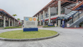 OKINAWA, JAPAN - April 20 , 2017: Ashibina Outlet Mall in Okinaw. A , Japan . Ashibina is Okinawa's first ever outlet mall, with 70 world brands gathered in Royalty Free Stock Photography