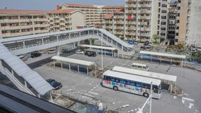 OKINAWA, JAPAN - April 19 , 2017: Bus terminal in Naha city , O. OKINAWA, JAPAN - April 19 , 2017 Bus terminal in Naha city , Okinawa , Japan stock photography
