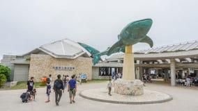 OKINAWA, JAPAN - 20. April 2017: Okinawa Churaumi Aquarium, Oki Lizenzfreie Stockfotos