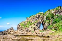 Okinawa Japan kust arkivbild