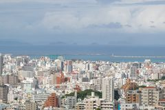 OKINAWA, JAPAN - October 20 , 2017: Okinawa skyline view from sh stock images