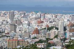OKINAWA, JAPAN - October 20 , 2017: Okinawa skyline view from sh stock photo