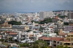 OKINAWA, JAPAN - October 20 , 2017: Okinawa skyline view from sh stock photos