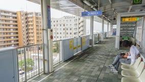OKINAWA JAPONIA, Kwiecień, - 19, 2017: Yui jednoszynowy dworzec wewnątrz Zdjęcie Royalty Free