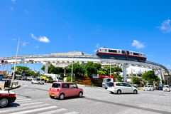 Okinawa monorail, Yui Rail in Shuri area Stock Photos