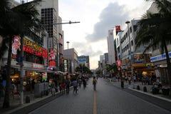 OKINAWA - 8 OCT: International road in Okinawa, Japan on 8 October 2016 Stock Photos