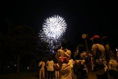 OKINAWA - 8 OCT: RBC mieszkana festiwal w Onoyama parku, Okinawa, Japonia na 8 2016 Październiku Obraz Royalty Free