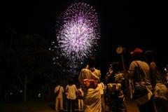 OKINAWA - 8 OKTOBER: RBC medborgarefestivalen i Onoyama parkerar, Okinawa, Japan på 8 Oktober 2016 Royaltyfri Bild