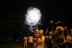 OKINAWA - 8 OKTOBER: RBC medborgarefestivalen i Onoyama parkerar, Okinawa, Japan på 8 Oktober 2016 Royaltyfri Fotografi