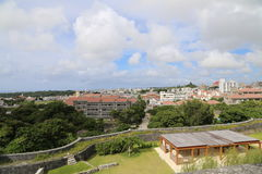 OKINAWA - 8. OKTOBER: Shuri-Schloss in Okinawa, Japan 201 am 8. Oktober Stockbild