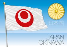 Okinawa prefecture flag, Japan. Vector file, illustration Royalty Free Stock Photo
