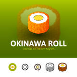 Okinawa roll icon in different style Stock Photography