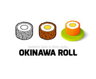 Okinawa roll icon in different style Royalty Free Stock Images