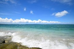 Okinawa sea in the summer. royalty free stock photos