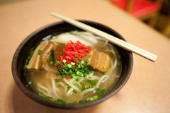 Okinawa soba. (沖縄そば) is a type of noodle soup eaten in Okinawa. In Okinawa, it is sometimes simply called soba or suba, although it is different from Stock Photography