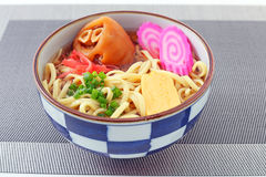 Okinawa soba. At the table Royalty Free Stock Image