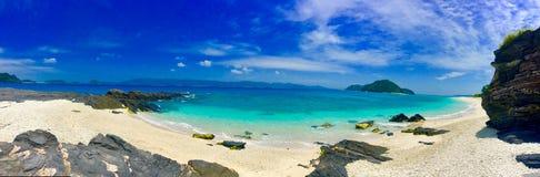 Okinawa tokashiki island in japan. Okinawa beach sea in japan royalty free stock image