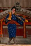 Okinawan dancer Royalty Free Stock Photo