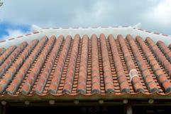 Okinawan hus tak Royaltyfri Foto