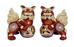 Okinawan shi shi dogs Royalty Free Stock Image