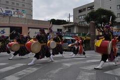 Okinawan Taiko Drummers Royalty Free Stock Photos