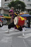 Okinawan Taiko Drummers. An image of Okinawan Taiko Drummers on Kokusai street in Okinawa Japan Stock Images