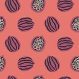 Okkernoot naadloos vectorpatroon Royalty-vrije Stock Afbeelding