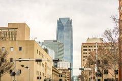 Okla oklahoma city skyline Stock Photography