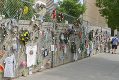 Oklahoma Bombing Memorial Memorabilia Stock Image