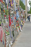Oklahoma Bombing Memorial Remembrance Fence Stock Photography