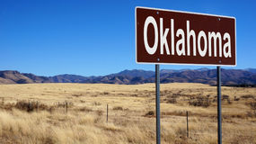Oklahoma brown road sign Royalty Free Stock Images