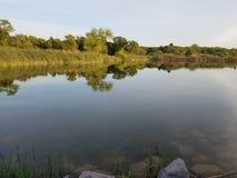 Oklahoma calm lake. Calm Oklahoma Lake with reflection Royalty Free Stock Photography