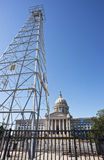 Oklahoma Capital Building. Oklahoma capital building showing oil derick Stock Photo
