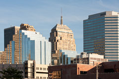 Oklahoma city. Office buildings of Oklahoma city downtown, USA Royalty Free Stock Photography