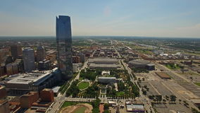 Oklahoma City aéreo de Oklahoma almacen de metraje de vídeo