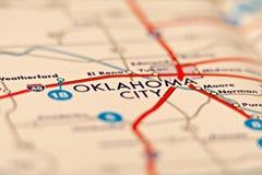 Oklahoma City Area Map Stock Photography