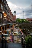 Oklahoma City bei Sonnenuntergang lizenzfreies stockfoto